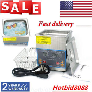 Stainless Steel 2l Ultrasonic Cleaner Industry Heated Heater W Timer basket