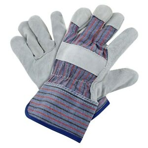 Lp120 12 Pairs Leather Palm Gloves safety Cuff Construction