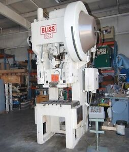 Bliss Model C75 Gap Frame Press inv 1092