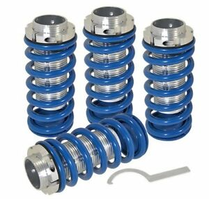 93 97 Corolla Adjustable Lowering Spring Coil Over Sleeves Jdm Scaled Set Blue