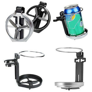 1x Black Folding Drink Cup Can Bottle Holder Mount Stand For Boat Marine Car Rv
