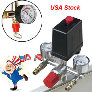 Usa Stock Air Compressor Pressure Switch Valve Control Heavy Duty 125psi Max