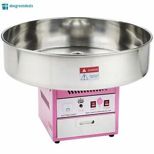 New Commercial Cotton Candy Maker Machine Stainless Steel Tabletop Electric