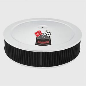 Chrome Air Cleaner Black Washable Filter 14x3 Chevy Fits 4bbl New Camaro Red