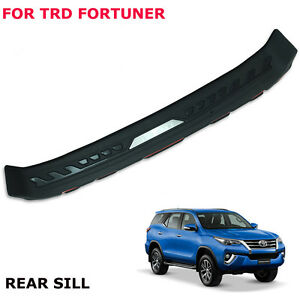 For Toyota Fortuner Trd 16 17 Rear Tailgate Bumper Step Cover Matte Black Trim