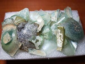 Lot Of Roman Glass Ancient Fragments With Beautiful Patina