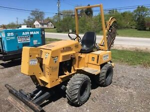 Vermeer Ride On Diesel Trencher Great Running Condition 8 X 48