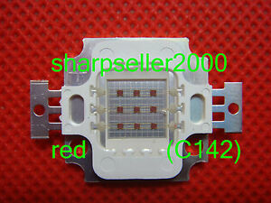 40pcs 10w Watt Red High Power Led Plant Grow Growth Light Lamp 660nm 6v