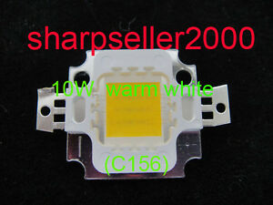 100p 10w Led Warm White High Power Bright 900lm Led Lamp Smd Bulb Chip 9 12v Dc