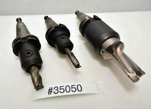 Lot Of 3 Parlec Mitsubishi Lyndex Cat 40 Tool Holders inv 35050