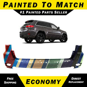 New Painted To Match Rear Bumper Cover For 2014 2015 Jeep Grand Cherokee W Park