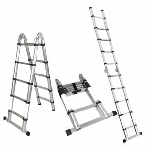 A frame 10 5 Ft Aluminum Ladder Telescopic Extension Tall Multi Purpose En131