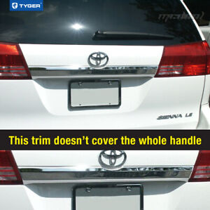 For 04 10 Toyota Sienna Tailgate liftgate Handle Cover Molding Trim Accent 1pc