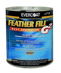 Fibreglass Evercoat 713 Feather Fill G2 Primer W 4 Clear Hardeners Gray 1