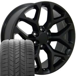Cp 20 Rims Fit Silverado Tahoe Yukon Sierra Satin Black Gy Eagle As Tires 5668