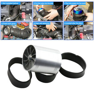 New Silver Dual Fan Turbonator Fuel Saver For Turbo Supercharger Air Intake
