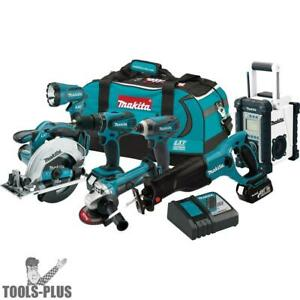Makita Xt704 7 Piece 18 Volt Lxt Lithium ion Combo Kit New