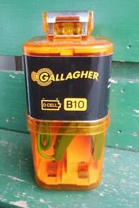 Gallagher B10 Battery Operated Electric Fence Energizer New D cell 6 Acre Farm