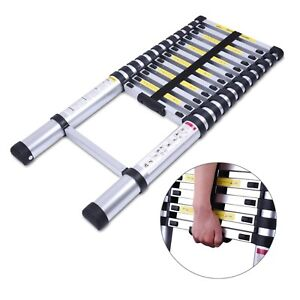 12 17ft Multi Purpose Aluminum Ladder Step Scaffold Ladder Extendable Platform
