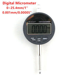 Digital Micrometer 25 4mm 1 Electronic 0 001mm Micron Dial Indicator Measuring
