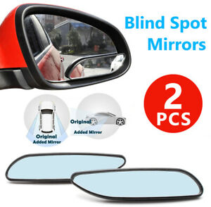 2x Rhombus Stick On Adjustable Wide Angle Auxiliary Blind Spot Rear View Mirrors