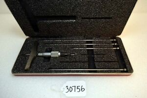 Starrett 445 Depth Micrometer Set With Pointed Rods inv 30756