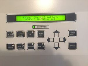 National Time Signal Corporation Complete Fire Alarm System