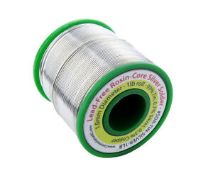Lead free Rosin core Silver Solder 1 0 Mm Diameter 1 Lb Roll