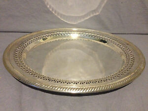 Wm Rogers Silver Plate 12 Round Serving Platter