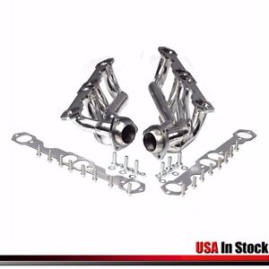 Stainless Steel Truck Headers Fits Chevy Gmc 88 97 5 0l 5 7l 305 350 V8