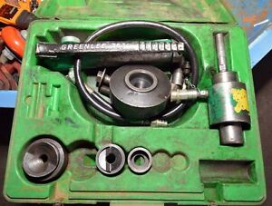 Greenlee 7646 Hydraulic Knockout Punch Driver Set inv 33483
