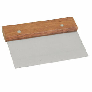 Thunder Group Sltwds006 Stainless Steel Dough Scraper Wood Handle