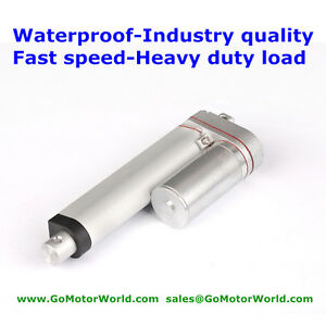 Waterproof Dc12v 12 Stroke 1 2inch s Speed 66pound Fast Speed Linear Actuator
