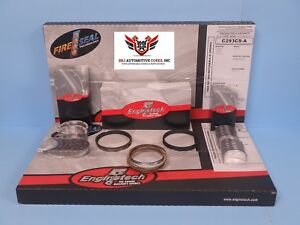 Enginetech Chevy Sbc 305 5 0 Re Ring Rebuild Kit With Main Bearings 1986 1995