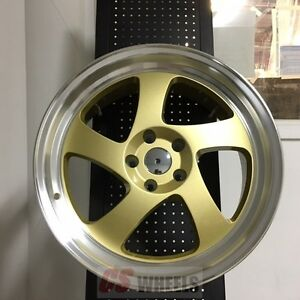 19 Gold Tmb Style Staggered Wheels Rims Lexus Is250 Is350 Is Es300 Es330