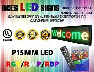 Led Sign 12 X 40 Programmable Scroll Message Board Rgy rwp rbp P15mm
