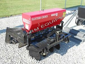 Food Plot Drill Broadcast Seeder no Till 4 Kasco Plotters Choice Combo Unit