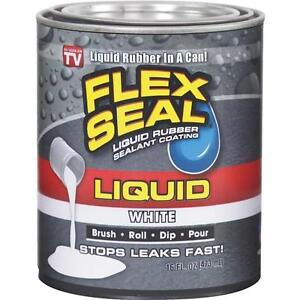 6 Pk Flex Seal 1 Pt White Liquid Rubber Watertight Coating Sealant Lfswhtr16