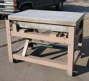 Granite Table On Stand 30 X 48 X 9 Inch inv 15120