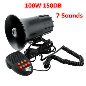 150db Loud Car 7 Sound Warning Siren Horn Pa Speaker System For Dodge Ford Jeep