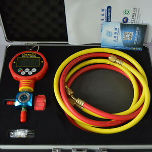 Single Digital High Pressure Manifolds Refrigeration Vacuum Gauge Meter Wk 6881h
