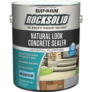 2 rust oleum Rocksolid 1 Gal Natural Look Clear Concrete Driveway Sealer 317928