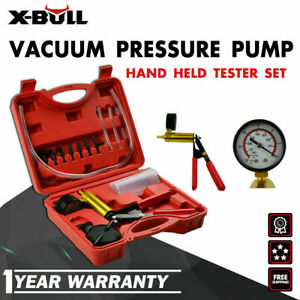 X bull Hand Held Vacuum Pressure Pump Tester Brake Fluid Bleeder Bleeding Kit