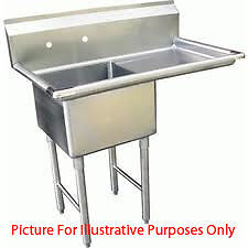 One Compartment Nsf Comercial Sink With Right Drainboard Size Bowl Size 12 X 16