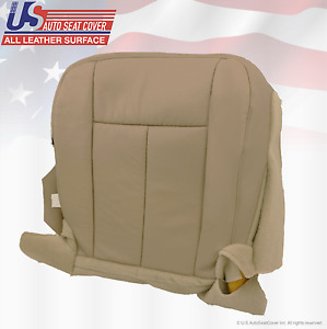 2011 2012 Ford Expedition Xlt Driver Bottom Perforated Leather Seat Cover Tan