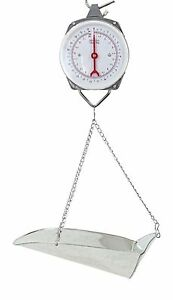22lb Hanging Dial Scale W Basket Scoop For Food Produce Feed Hardware 10kg Lbs