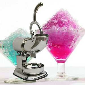 Ice Shaver Machine Sno Snow Cone Maker Shaved Ice Electric Crusher Cold Drink Ce