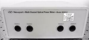 G141370 Newport 4832 c Multi Channel Optical Power Meter 4 channel Benchtop