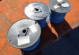 3 Spools Of 12 Awg Blue Stranded Copper Wire inv 33435