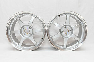 Ssr Type C 17x7 5 4x100 Offset 42 Jdm Rare 2 Two Wheels Only